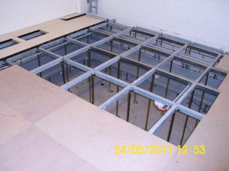 Schaltwartenboden, Hohlraumboden, Holzwerkstoffplatten